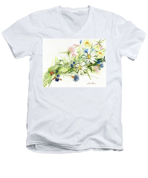 Bouquet Of Wildflowers Men's V-Neck T-Shirt