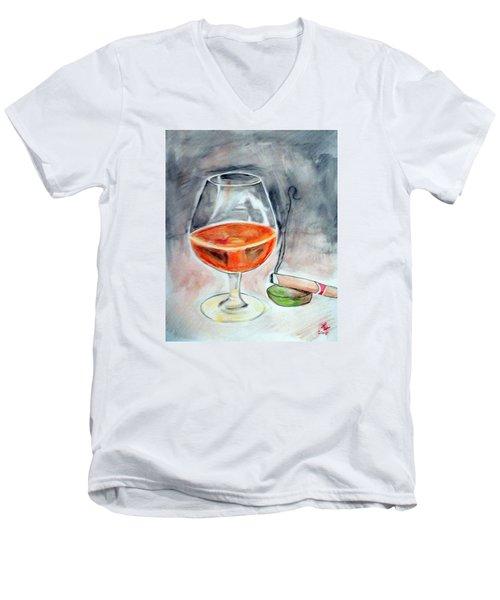 Bourbon And Smoke Men's V-Neck T-Shirt by Loretta Nash