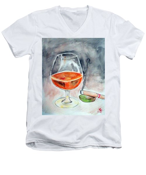 Bourbon And Smoke Men's V-Neck T-Shirt