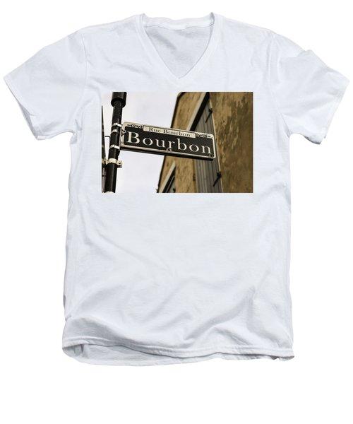 Bourbon Street, New Orleans, Louisiana Men's V-Neck T-Shirt