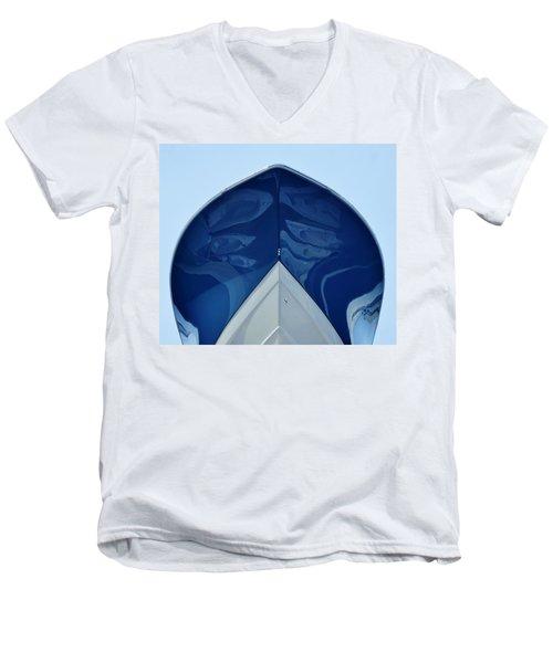 bow, deep V Men's V-Neck T-Shirt by John Wartman