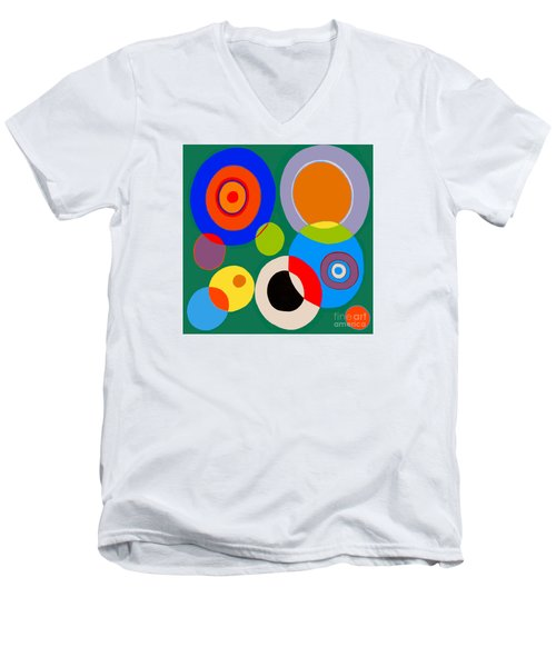 Men's V-Neck T-Shirt featuring the painting boy by Beth Saffer
