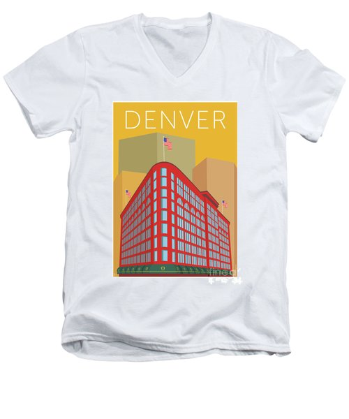 Denver Brown Palace/gold Men's V-Neck T-Shirt