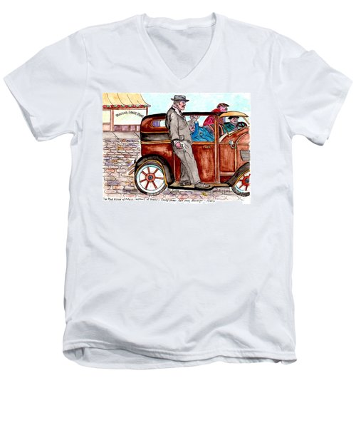 Bracco Candy Store - Window To Life As It Happened Men's V-Neck T-Shirt by Philip Bracco