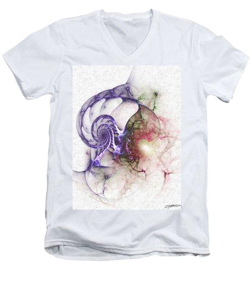 Brain Damage Men's V-Neck T-Shirt by Casey Kotas