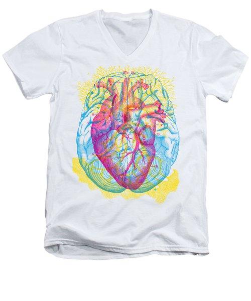 Brain Heart Circulation Men's V-Neck T-Shirt