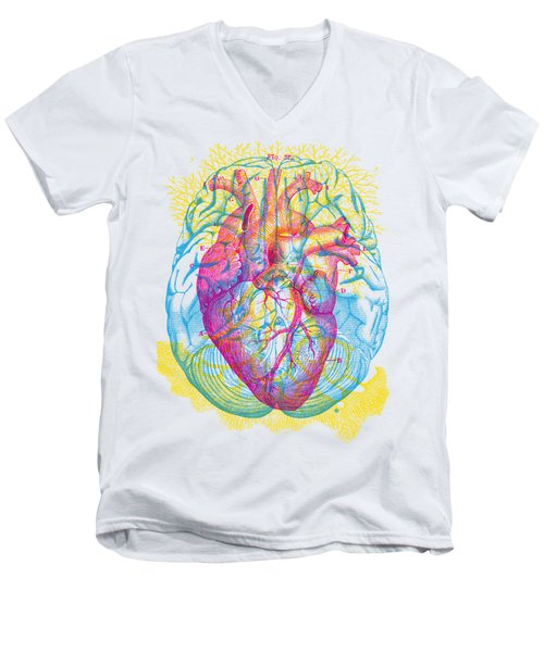 Brain Heart Circulation Men's V-Neck T-Shirt