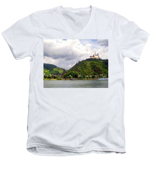 Men's V-Neck T-Shirt featuring the photograph Brambach Germany by Joan  Minchak