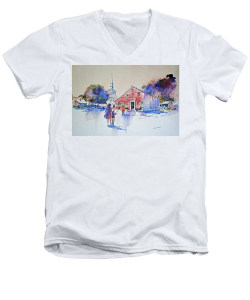 Bramhall's Corner Men's V-Neck T-Shirt