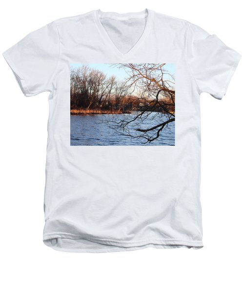 Branches Over Water Men's V-Neck T-Shirt