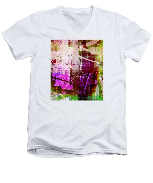 Branching Out Men's V-Neck T-Shirt by Shawna Rowe