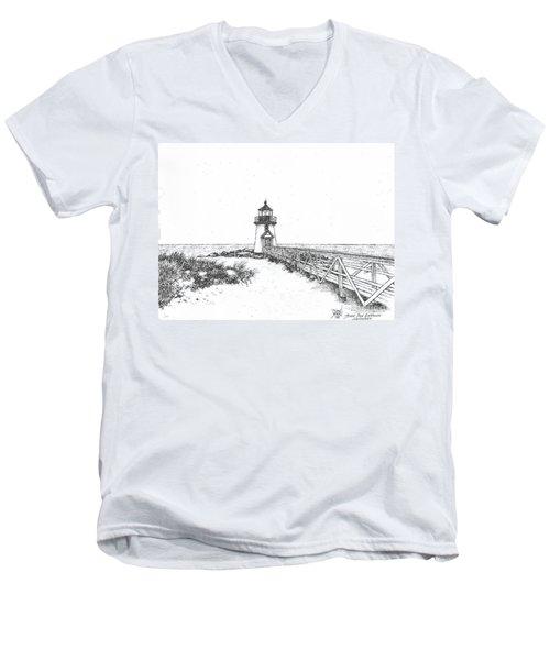 Brant Point Lighthouse Men's V-Neck T-Shirt