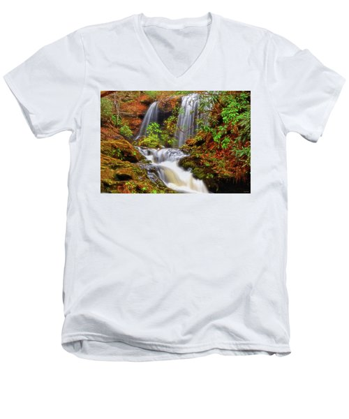 Brasstown Falls 013 Men's V-Neck T-Shirt