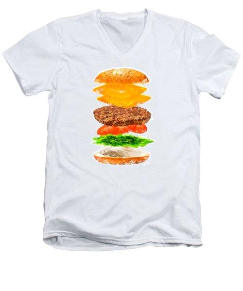 Brazilian Salad Cheeseburger Men's V-Neck T-Shirt