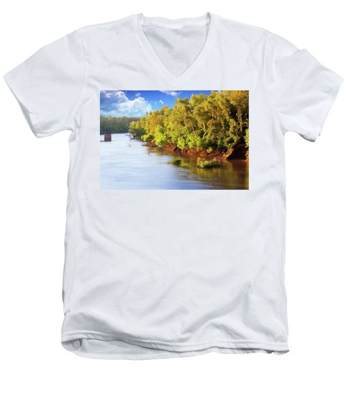 Brazos River Men's V-Neck T-Shirt