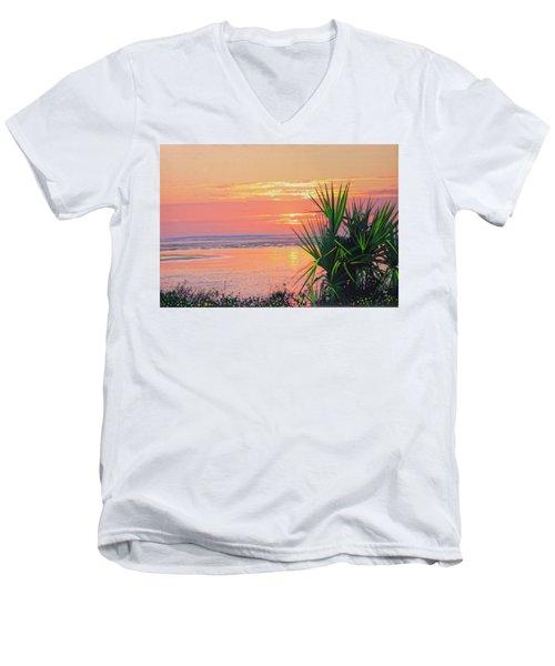 Breach Inlet Sunrise Palmetto  Men's V-Neck T-Shirt