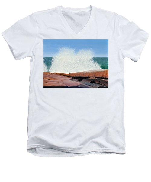 Breakers On Georgian Bay Men's V-Neck T-Shirt