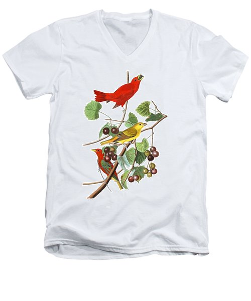 Men's V-Neck T-Shirt featuring the photograph Breakfast Time by Munir Alawi
