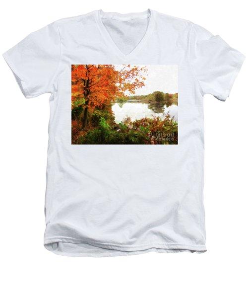 Breath Of Autumn Men's V-Neck T-Shirt
