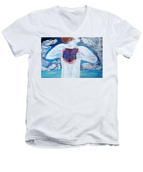 Breathe Deep Men's V-Neck T-Shirt