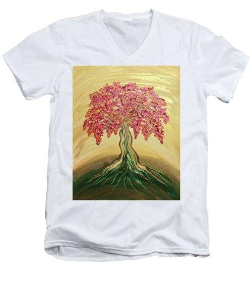 Breathe Golden Peace Men's V-Neck T-Shirt