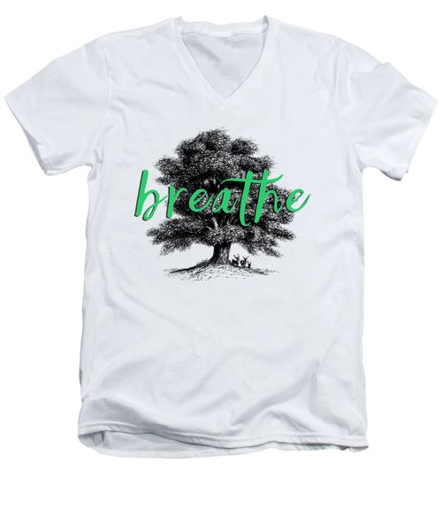Men's V-Neck T-Shirt featuring the photograph Breathe Shirt by Edward Fielding