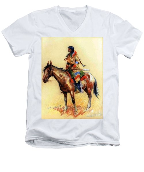 Breed Men's V-Neck T-Shirt by Pg Reproductions