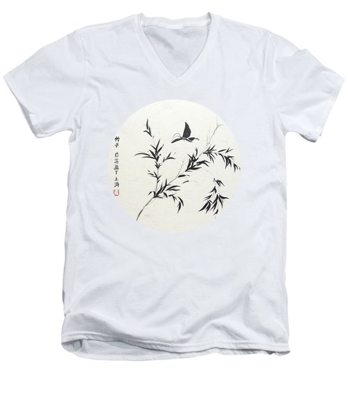 Breeze Of Spring - Round Men's V-Neck T-Shirt