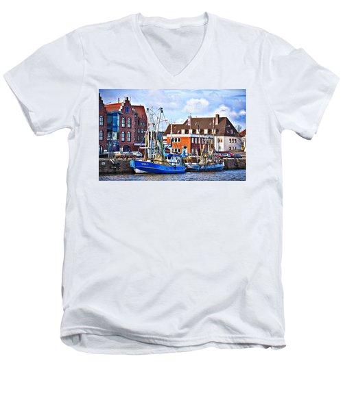 Bremerhaven Harbor, Germany Men's V-Neck T-Shirt
