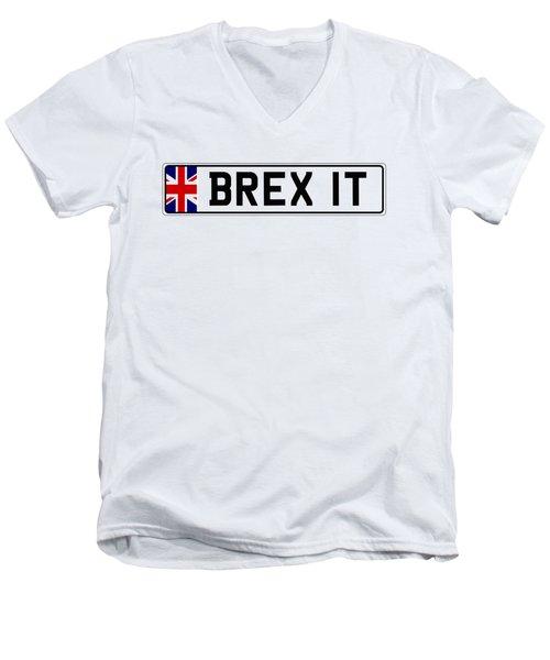 Brexit Number Plate Men's V-Neck T-Shirt by Roger Lighterness