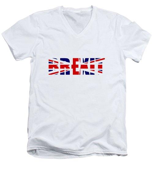 Brexit Men's V-Neck T-Shirt by Roger Lighterness