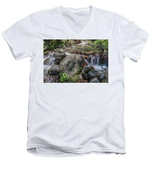 Bridalveil Creek Men's V-Neck T-Shirt by Ryan Weddle