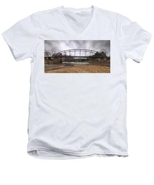 Bridge At The Mill Men's V-Neck T-Shirt