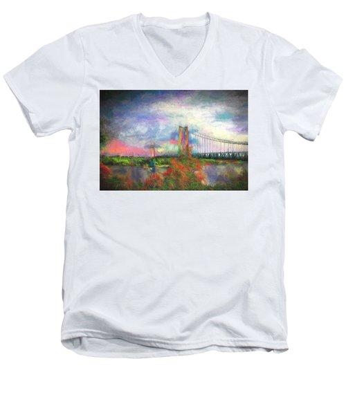 Bridge Blues Men's V-Neck T-Shirt