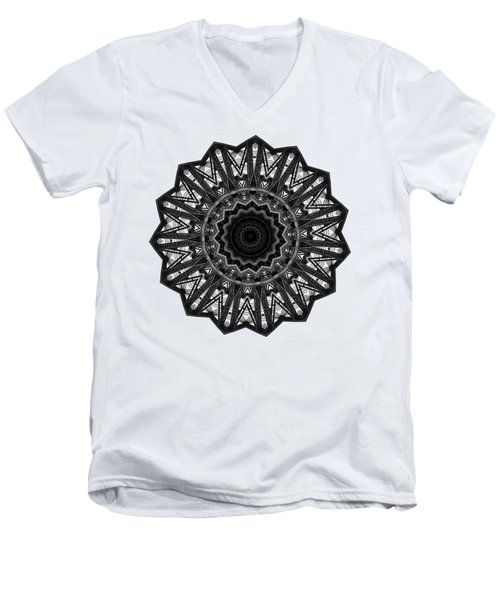 Bridge Construction Kaleidoscope By Kaye Menner Men's V-Neck T-Shirt