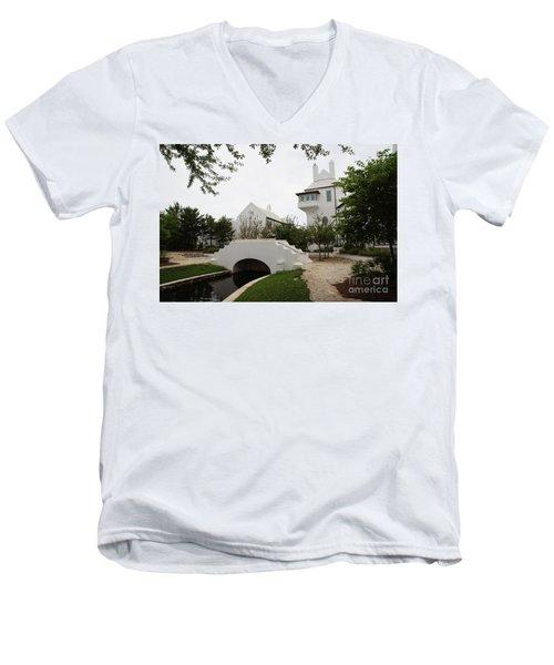 Bridge In Alys Beach Men's V-Neck T-Shirt