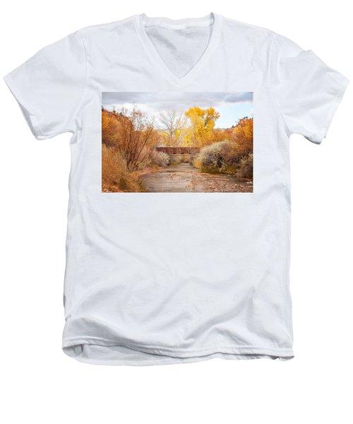 Bridge In Teasdale Men's V-Neck T-Shirt