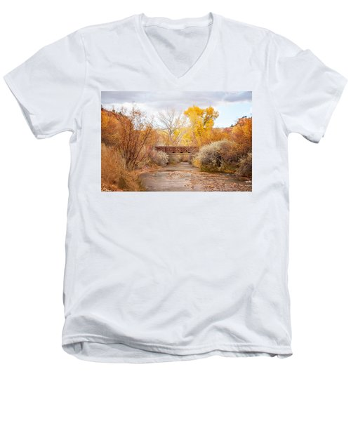 Bridge In Teasdale Men's V-Neck T-Shirt