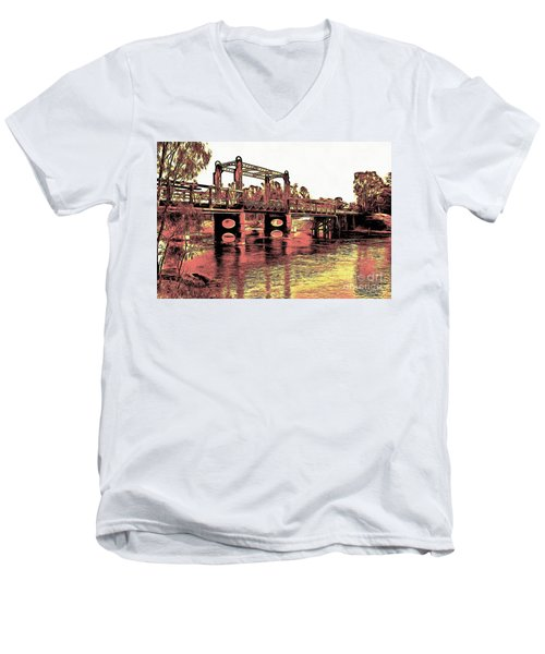 Bridge Over Murray River Men's V-Neck T-Shirt