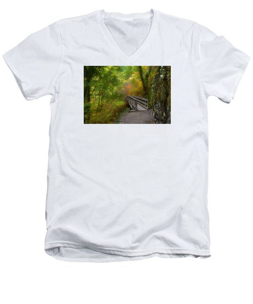 Bridge To Lightness Men's V-Neck T-Shirt by Laura Ragland