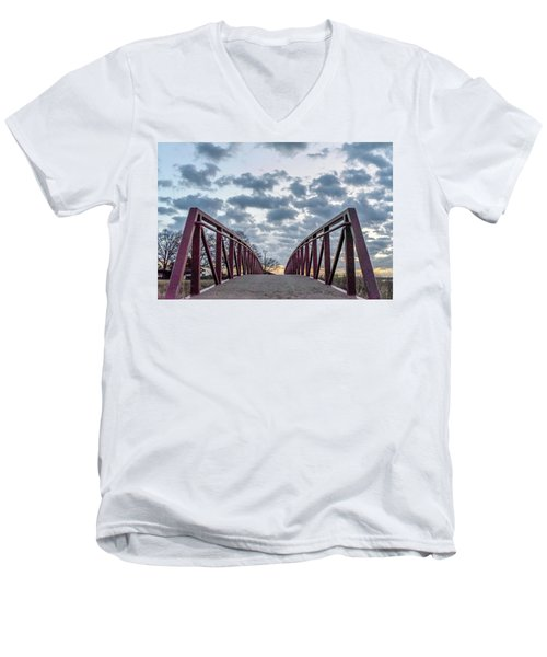 Bridge To The Clouds Men's V-Neck T-Shirt