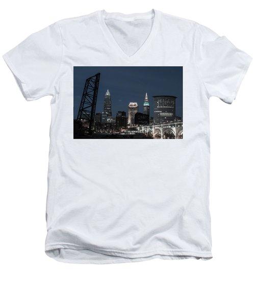 Bridges And Buildings Men's V-Neck T-Shirt
