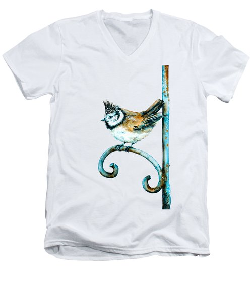 Bridled Titmouse Men's V-Neck T-Shirt