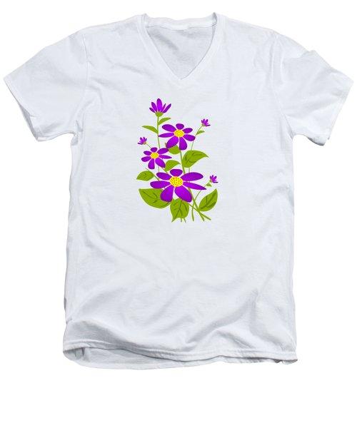 Bright Purple Men's V-Neck T-Shirt