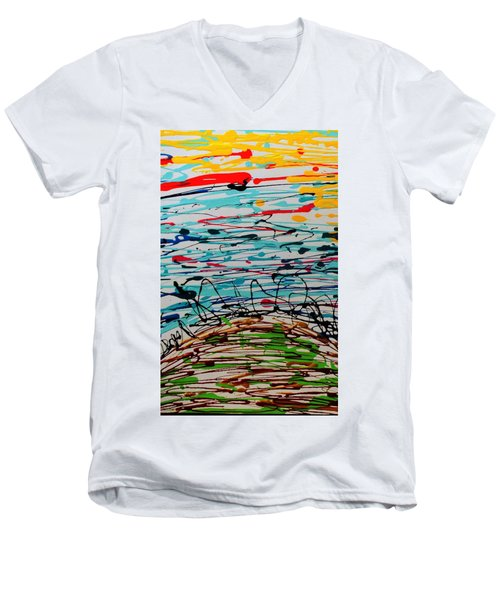 Brighter Day 1 Of 2 Men's V-Neck T-Shirt