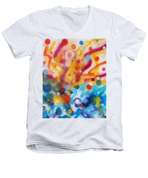 Bringing Life Spray Painting  Men's V-Neck T-Shirt