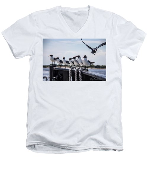 Bringing Up The Rear Men's V-Neck T-Shirt by Phil Mancuso