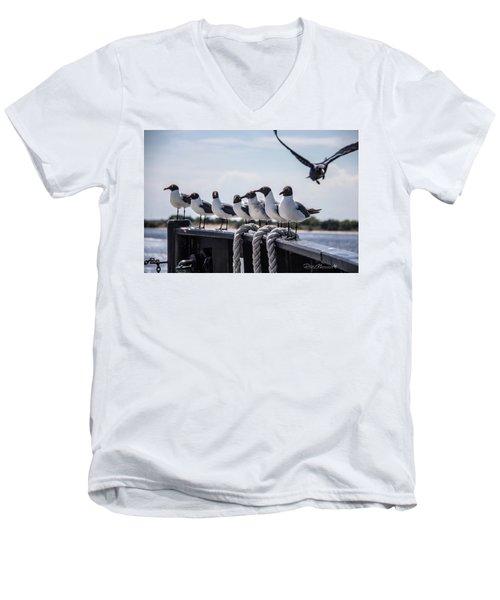 Bringing Up The Rear Men's V-Neck T-Shirt