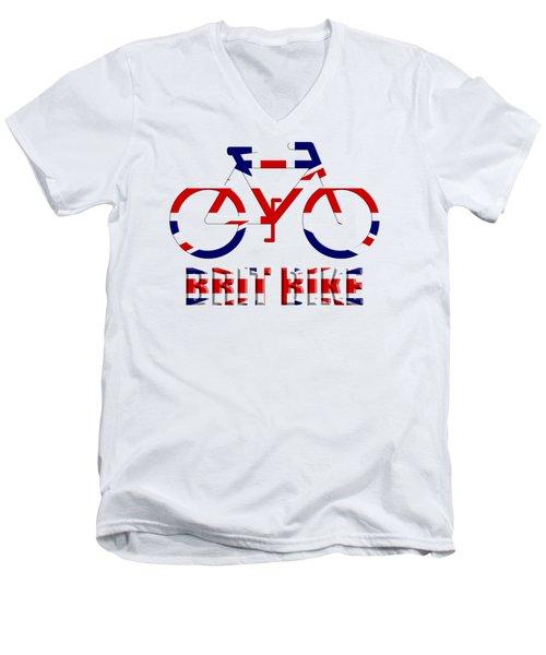 Brit Bike Men's V-Neck T-Shirt by Roger Lighterness