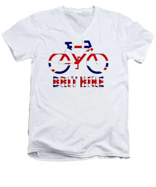 Brit Bike Men's V-Neck T-Shirt